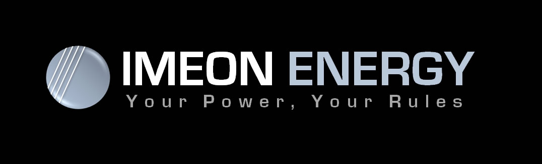 IMEON ENERGY logo noir Self Use solar Smart Inverters onduleur intelligent autoconsommation