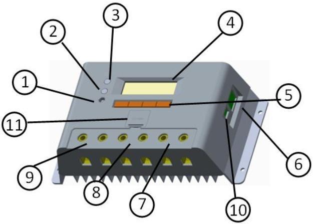 Контроллер EPSolar ШИМ 30А 12/24В с дисплеем